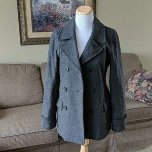 Women's Delia's Grey Pea Coat size small